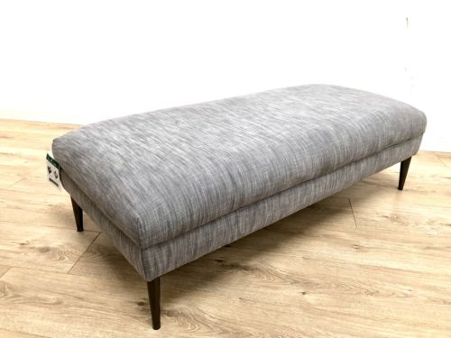 NEW Grey Contemporary Ottoman Footstool Sofa Stool EX DISPLAY