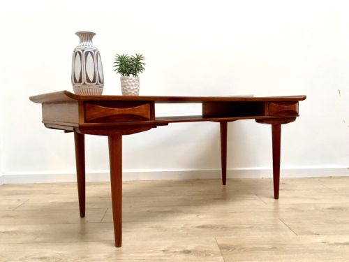 Rare Mid Century Danish Teak Coffee Table With Drawers And ...