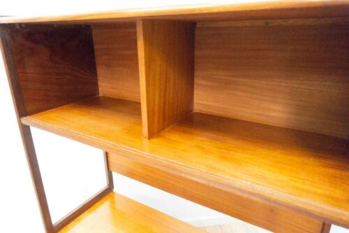 Rare Mid Century Vintage Teak TV Media Wall Sideboard Shelving Unit /1154