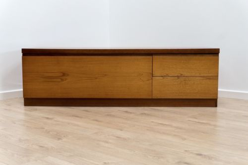 Mid Century Vintage Teak Modernist Long & Low Sideboard TV Media Unit