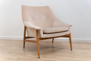 Mid 20th Century Danish Vintage Oak Armchair Lounge Chair 1950's /126