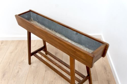 Mid Century Danish Vintage Rosewood Plant Trough Planter by BRDR Dalsgaard