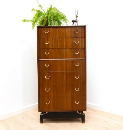 Mid Century Vintage Teak G Plan E Gomme Tallboy Chest Of Drawers 1960's /1213