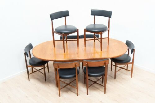 Mid Century G Plan Fresco Vintage Teak Dining Table & 8 Dining Chairs /1220