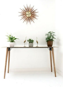 Vintage Industrial Wood & Metal Console Table Breakfast Table /803