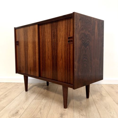 Superb Mid Century Danish Brouer Rosewood Console Cupboard Storage Unit