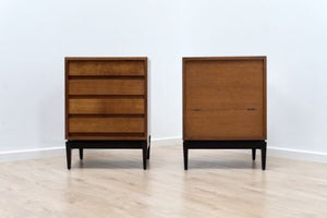 Rare Pair of Mid Century Vintage Heals Bedside Cabinet Drawers 1950's