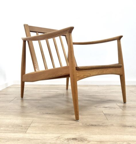 Superb Mid Century Danish Vintage Light Oak Armchair Folke Ohlsson For Dux
