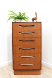 Mid Century Vintage G Plan Fresco Teak Tallboy Chest Of Drawers /1369