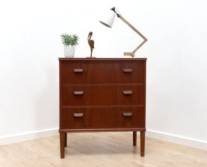 Mid Century Vintage Danish Teak Poul Volther Chest Of Drawers 1950's /137