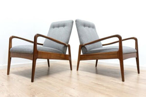 Greaves & Thomas Midcentury Vintage Teak Armchairs Lounge Chairs Pair /1422