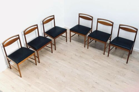 Set Of 6 Mid Century Vintage Teak A H McIntosh Dining Chairs 1960's /601