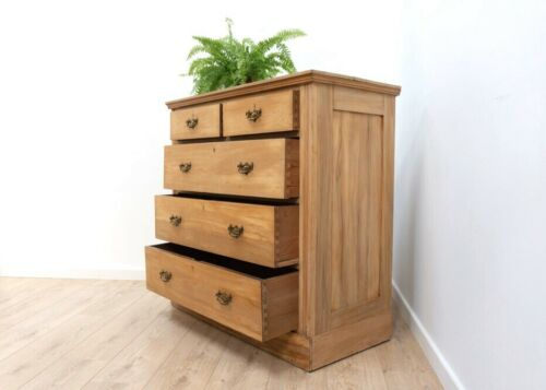 Beautiful Vintage Antique Victorian Solid Pine Chest Of Drawers Tallboy /1005