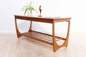 Rare Mid Century Vintage Teak G Plan Coffee Table With Magazine Rack 1960's /351
