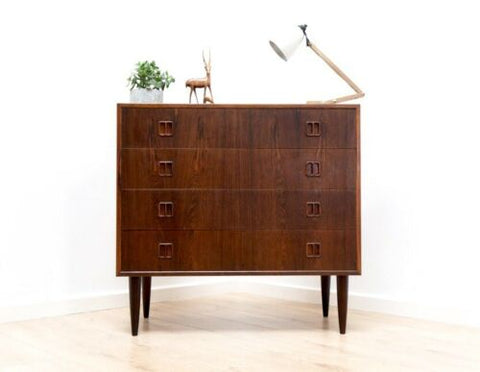Rare Mid Century Vintage Danish Rosewood Horsens Chest Of Drawers 1950's /778