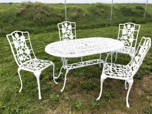 Stunning Nova White Patio Set Garden Table With 4 Chairs And Garden Bench