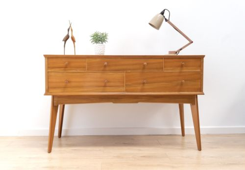 Rare Mid Century Alfred Cox Walnut Chest Of Drawers Dressing Table Walnut Heals