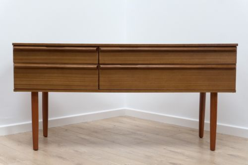 Mid Century Vintage Retro Teak Small Sideboard With Drawers By Avalon