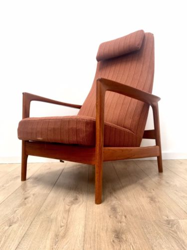 Rare Danish Vintage Teak Rock Rest Recline Armchair By Folke Ohlsson For Dux