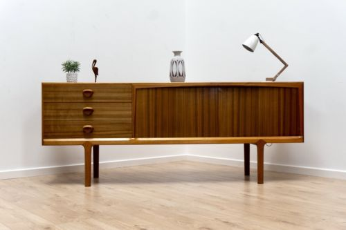 Rare Mid Century Vintage A H Mcintosh Walnut Sideboard with Dry Bar 1960's