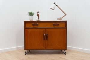 Mid Century Vintage G Plan Fresco Teak Cupboard TV Media Unit With Hairpin Legs A