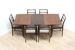 Midcentury Heals Extending Dining Table Chairs Richard Hornby Vintage Teak 1455