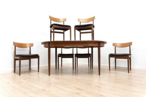 Mid Century Vintage Teak G Plan Dining Table 6 Ib Kofod Larsen Dining Chairs 808
