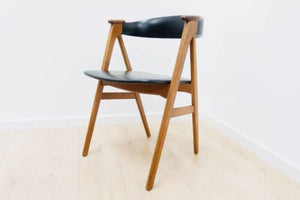 Stunning Mid Century Danish Vintage Teak Desk Elbow Chair 1950's /795