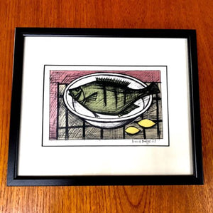 Original Mid Century Bernard Buffet Signed And Framed Print 1953