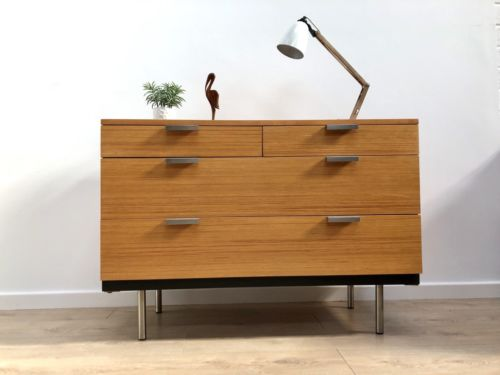Mid Century Vintage Teak Modernist Chest Of Drawers John & Sylvia Reid For Stag