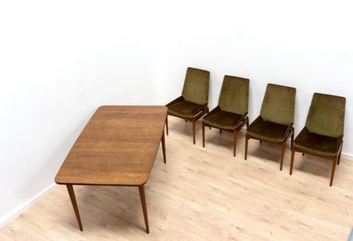 Mid Century Robert Heritage Archie Shine Hamilton Dining Table & Chairs