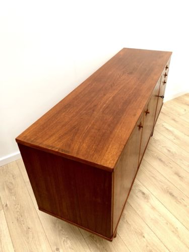 Mid Century Vintage Scandinavian Teak Sideboard Drinks Cabinet With Drawers