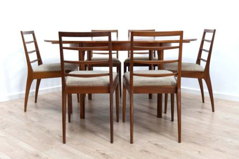 Superb Mid Century Vintage Teak Mcintosh Dining Table & 6 Chairs 1960's /380