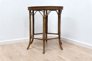 Vintage Mid Century French Rattan & Bamboo Occasional Table /136
