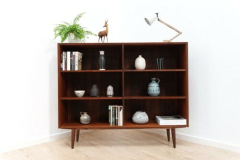 Stylish Mid Century Danish Vintage Rosewood Brouer Bookcase Shelving Unit /1393