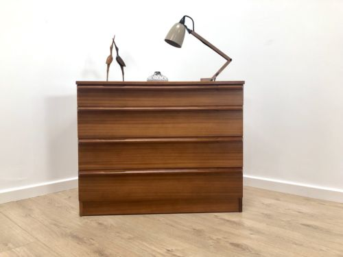 Superb Mid Century Vintage Teak Chest Of Drawers By Avalon