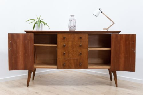 Mid Century Vintage Oak Sideboard Credenza Drawers By Everest 1960's /146