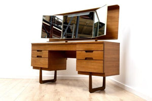 Mid Century Vintage Teak Gunther Hoffstead for Uniflex Dressing Table 1960's