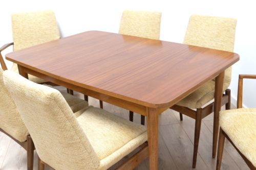 Mid Century Robert Heritage Archie Shine Hamilton Teak Dining Table & Chairs