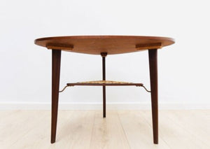 Mid Century Danish Vintage Teak Rosewood Pebble Coffee Table 1950's /925