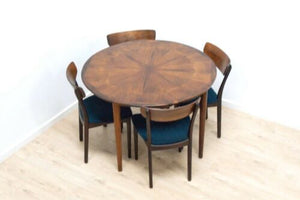 Stunning Mid Century Danish Vintage Rosewood Dining Table & 4 Dining Chairs 1122