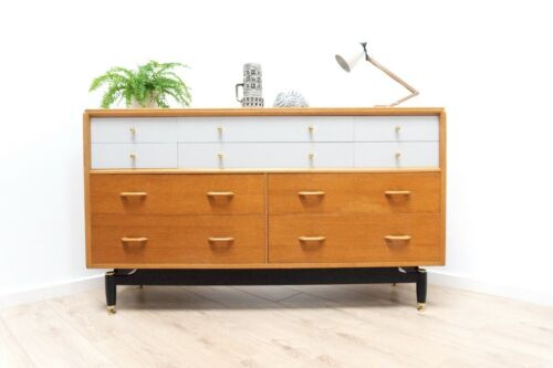 Mid Century Vintage G Plan E Gomme China White Sideboard Chest of Drawers /1397