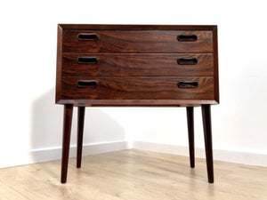 Spectacular Mid Century Vintage Danish Rosewood Bolighus Chest Of 3 Drawers
