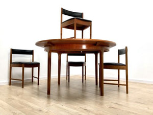 Mid Century Vintage Teak A H Mcintosh Round Dining Table And 4 Chairs The Attik St Annes