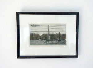 Mid Century Vintage Bernard Buffet Framed Colour Cityscape Lithograph 1960 /1101
