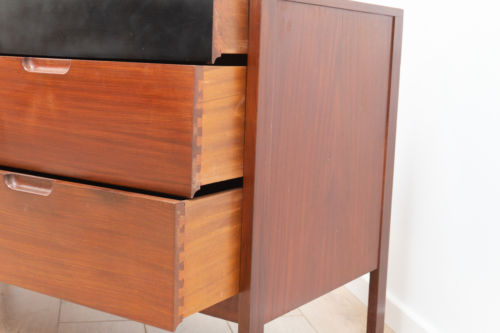 Mid Century Vintage Teak Richard Hornby Heals Chest of Drawers Sideboard