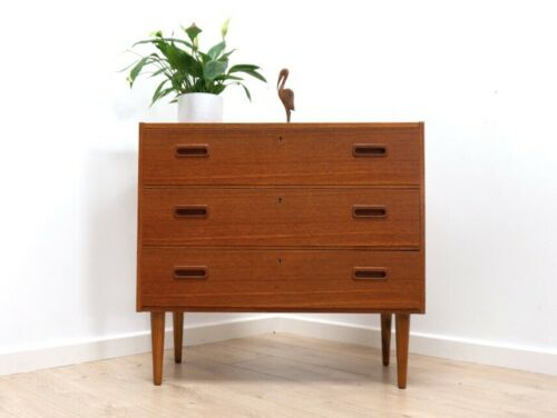 Mid Century Vintage Danish Teak Bedroom Chest Of Drawers 1950's /939