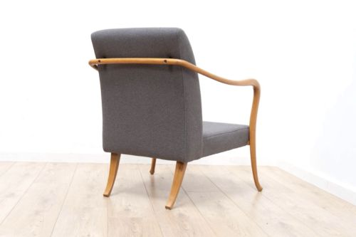 Stunning Mid Century Swedish Vintage Beech Bentwood Armchair Lounge Chair /421