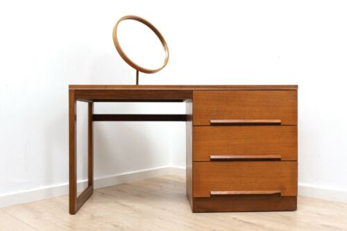Midcentury Vintage Teak Younger Dressing Table Vanity with Mirror 1960's /1595
