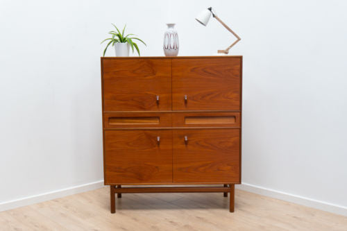 Immaculate Mid Century Vintage A H Mcintosh Teak Drinks Cabinet Sideboard /143